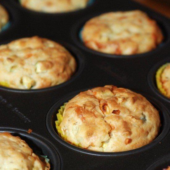 Rezept Zucchini-Feta-Muffins