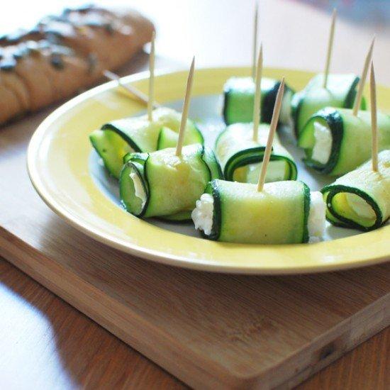 Rezept Zucchini-Feta-Röllchen