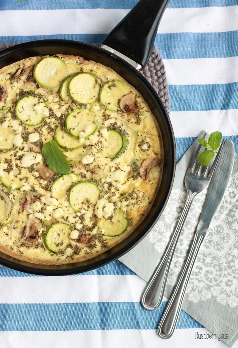 Rezept Zucchini-Frittata mit Ziegenkäse