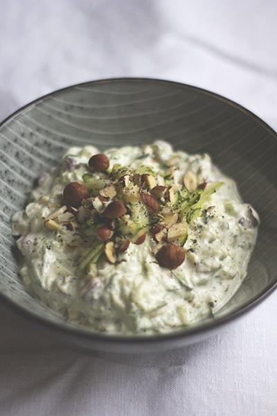 Rezept Zucchini-Joghurt mit Haselnüssen
