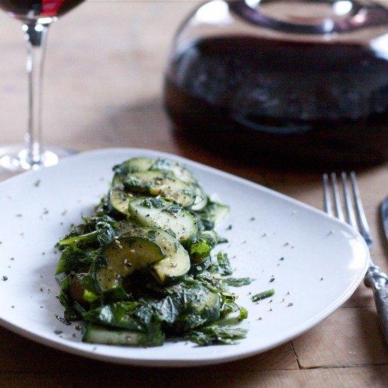 Rezept Zucchini-Minz Salat