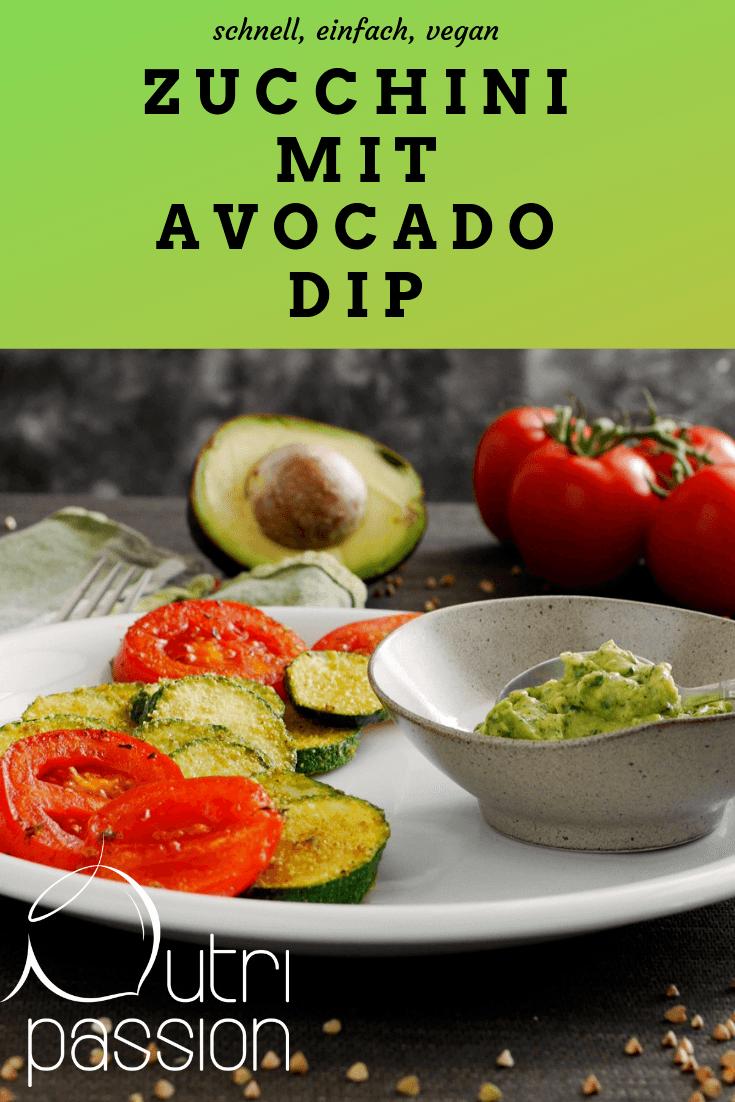 Rezept Zucchini mit Avocado Dip (glutenfrei)