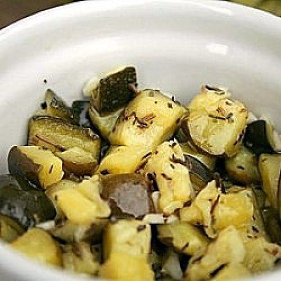 Rezept Zucchini Napoli - eingelegte Zucchini