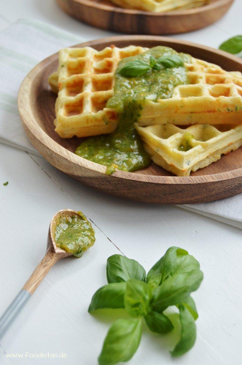 Rezept Zucchini Parmesan Waffeln