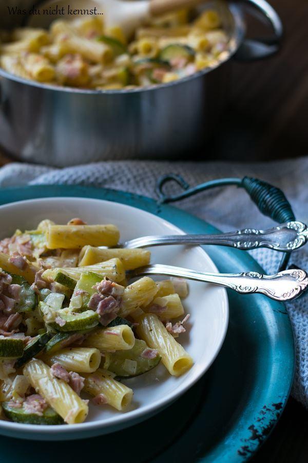 Rezept Zucchini-Pasta mit Frischkäse