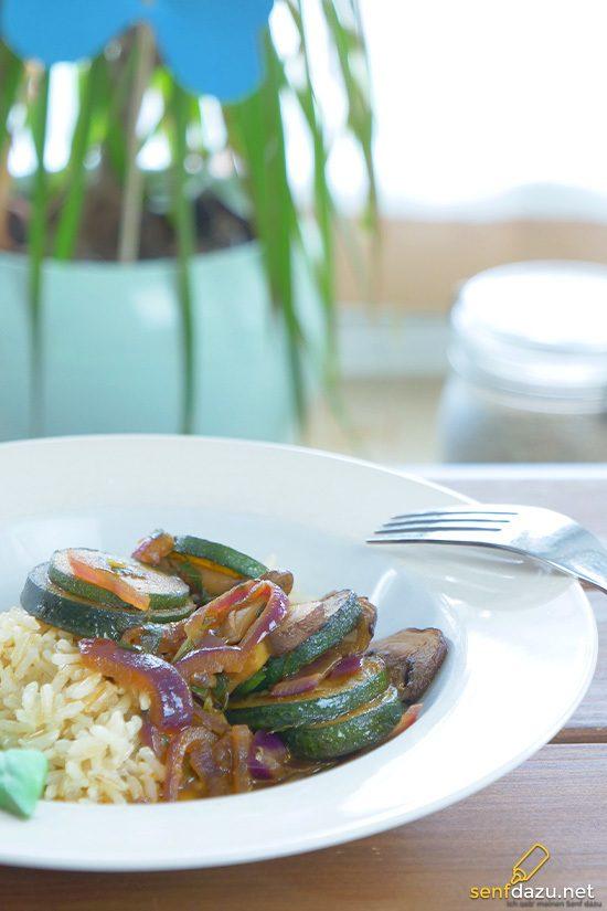 Rezept Zucchini Pfanne
