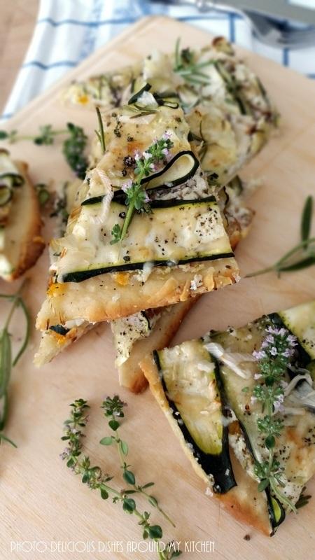 Rezept Zucchini- Pizza mit Ziegenkäse