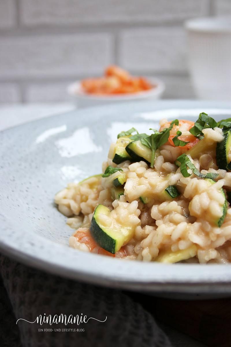 Rezept Zucchini-Risotto mit Garnelen