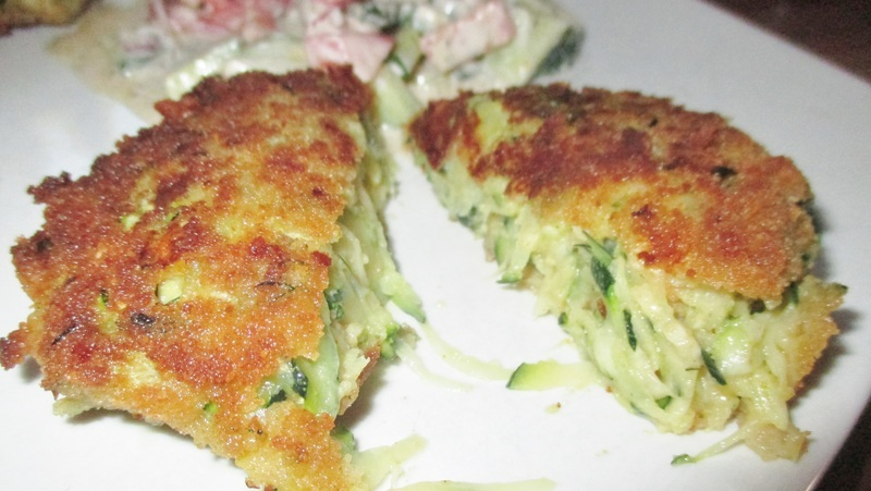 Rezept Zucchini Schnitzel / Zucchinipuffer
