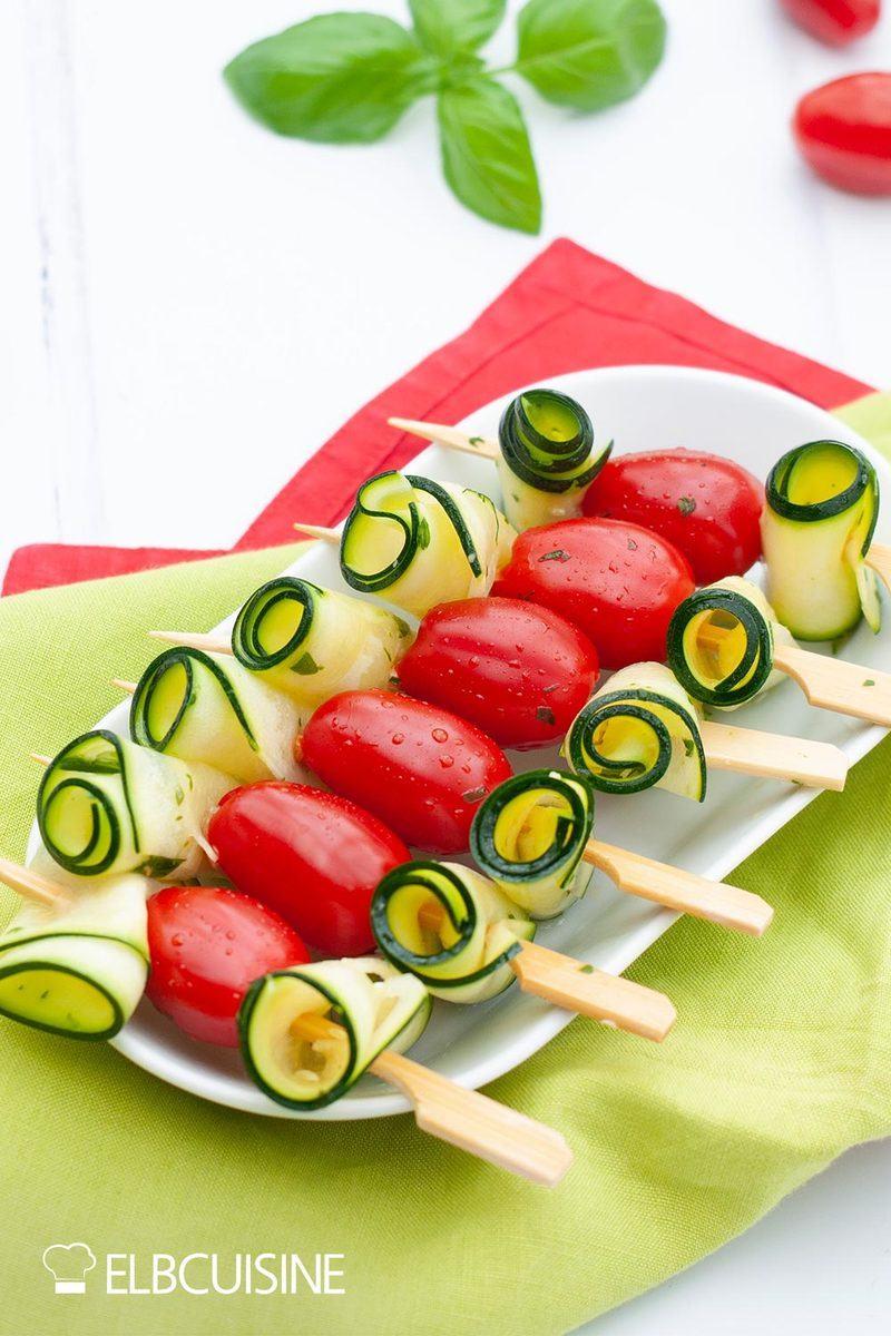 Rezept Zucchini-Tomaten-Spieße – der Grill ruft