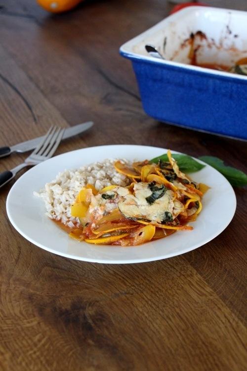 Rezept Zucchiniauflauf mit selbstgemachter Tomatensosse