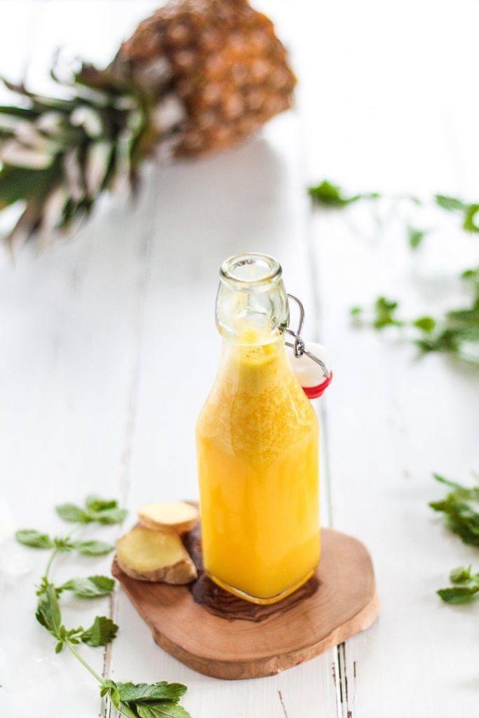 Rezept Zuckerfreie Ingwer Zitronen Ananas Limonade