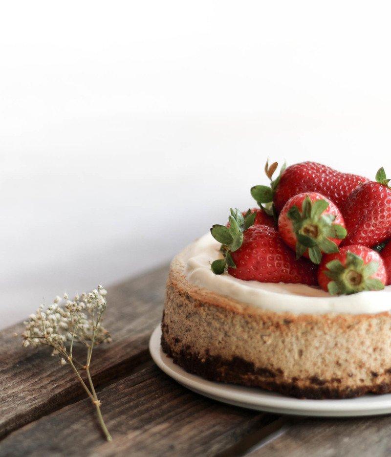 Rezept Zuckerfreier Erdbeer & Ricotta Cheesecake