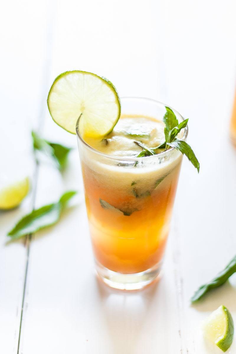 Rezept Zuckerfreier Sommer Drink mit Ananas und Papaya