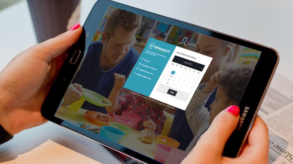 Kinderdagverblijf ontzorgen door makkelijk online boodschappen te doen, in beeld