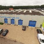 Centraal in Almere, Nederland door, in beeld