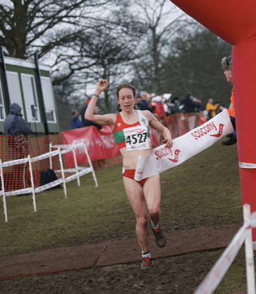 Steph Twell at the 2010 English National Cross Country Championships. Adam KR via Flickr