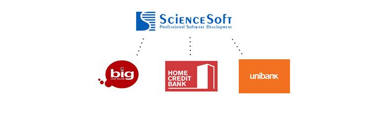 ScienceSoft fintech clients