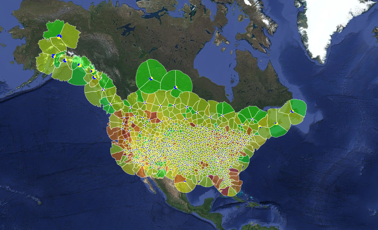 how to work with big geodata. examples