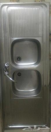 مغسلة مطبخ ستيل حوضين