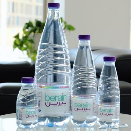 مياه بيرين زجاج و بلاستيك