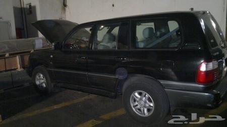 حراج السيارات جيب لكزس 1998 اسود نظيف للبيع