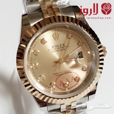 73c15b139 ساعة رولكس Rolex رجالي .. اللون الذهبي والفضي من لاروز