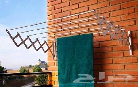 منشر الغسيل الجداري الجديد والعملي مصنوع من الالمنيوم