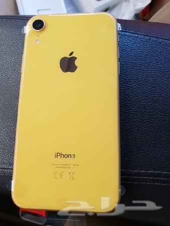 حراج الأجهزة ايفون اكس ار اصفر جديد