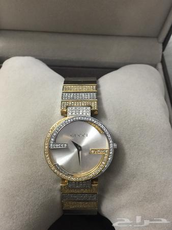f6c08492e حراج الأجهزة | للبيع ساعة نسائية قوتشي الماس سويسرية