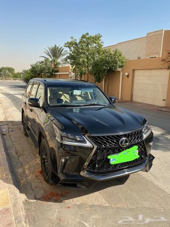 حراج السيارات جيب لكزس 2019 بلاك اديشن اسود داخلي بيج