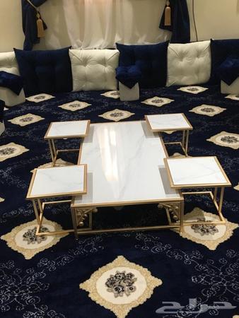 الرياض تفصيل طاولات رخام خشب