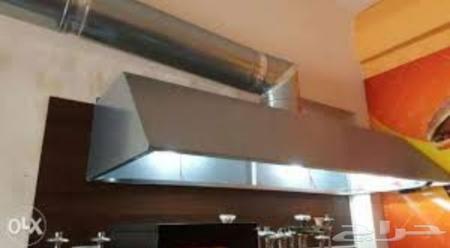 شفاط مطبخ او مطعم مع مدخنة