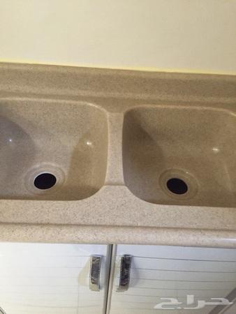 مغسله مطبخ حوضين غير مستعمله