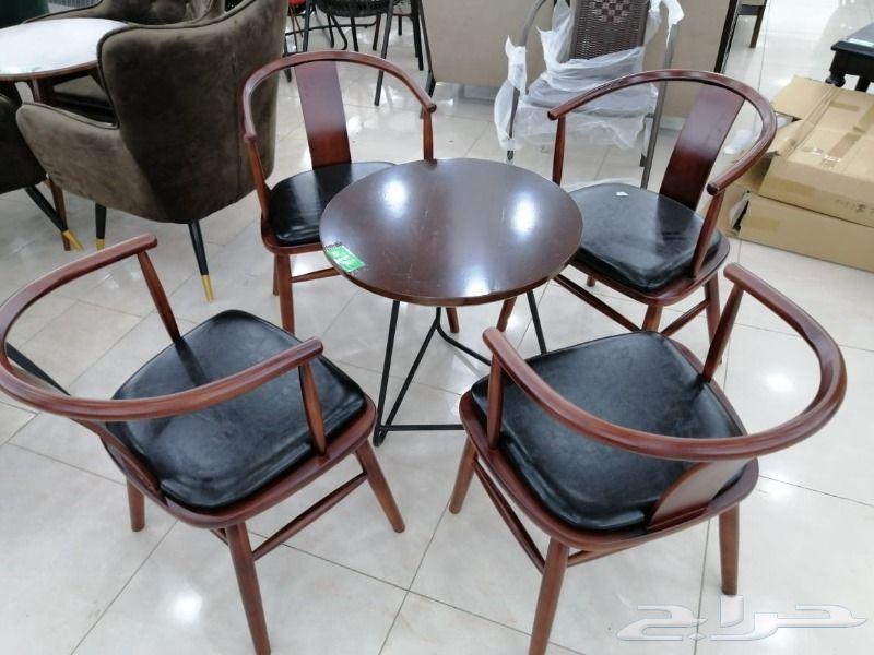 طاولات كافيهات 2 و3 و4 كراسي خامة ممتازة