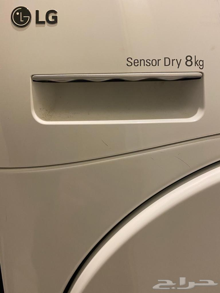 للبيع نشافة LG حراري حجم 8كيلو نظيفة