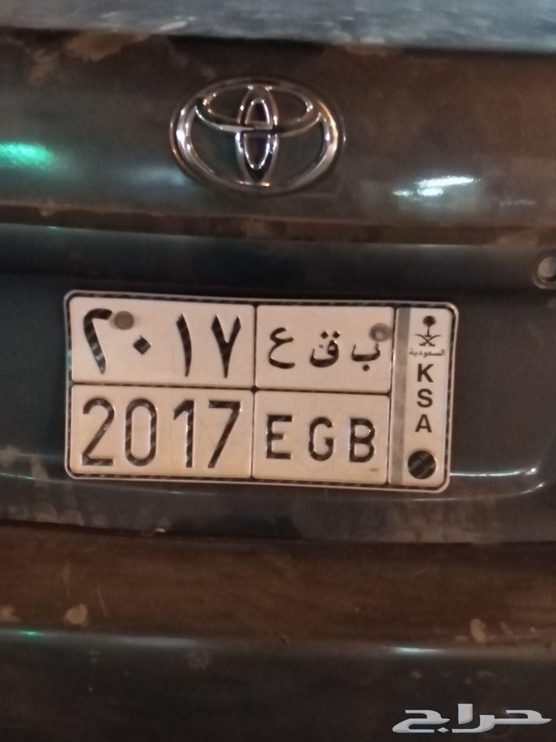 لوحة سيارة لبيع ب ق ع 2017