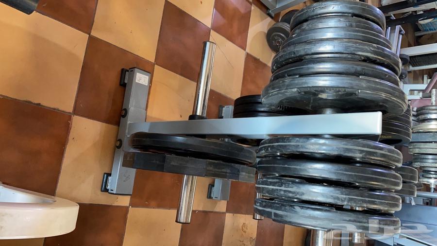 اجهزة رياضية تجهيز اندية اثقال اوزان بار راك