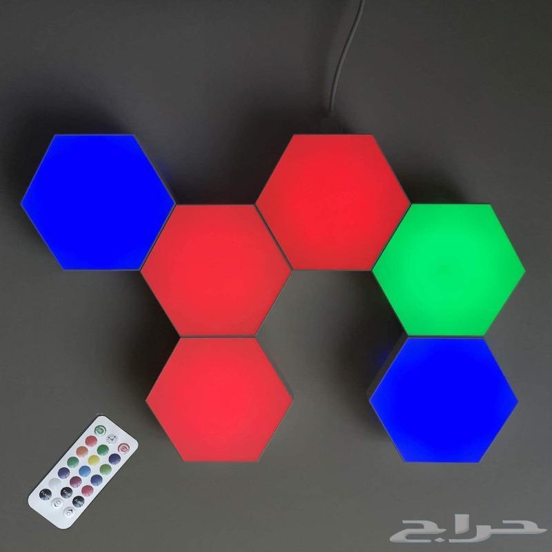 لمبات ليد سداسية RGB USB Hexagon