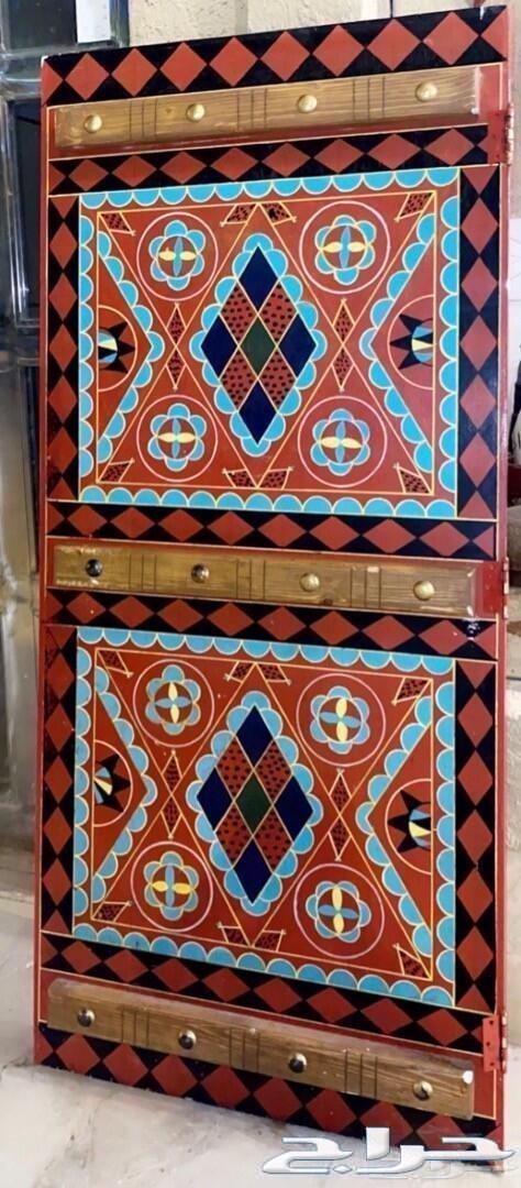 Details Of ابواب تراثية خشب نقشة نجدية نقش يدوي