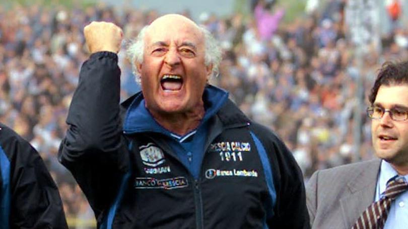 Auguri Totti a Mazzone