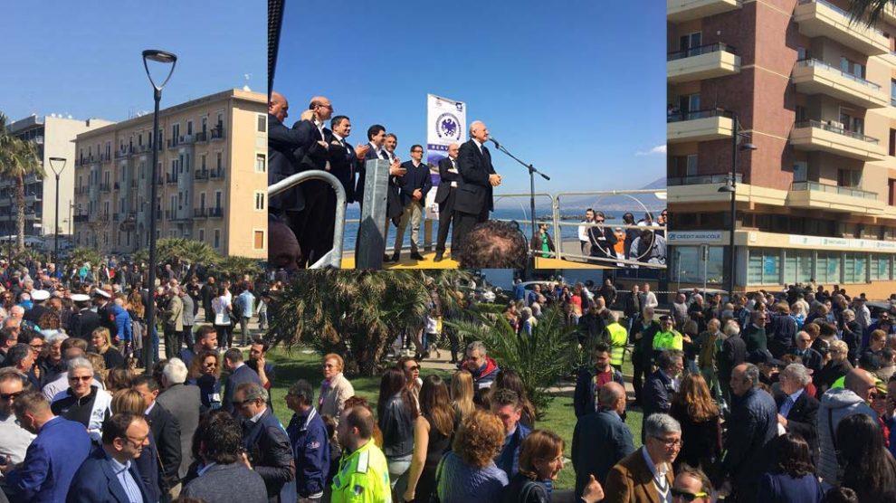 Il presidente De Luca a Castellammare di Stabia per il nuovo lungomare