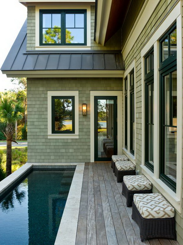 small deck and pool