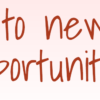 Affirmation - I am open to new business opportunities