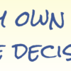 Affirmation - I trust my own ability to make decisions