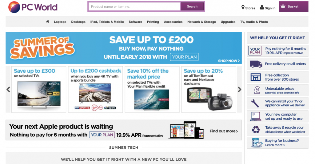 pc world ecommerce trust signals