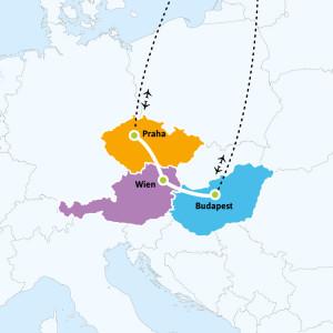 Praha-Wien-Budapest-kartta-kiertomatkat-002
