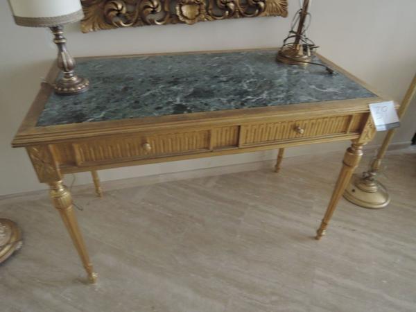 Credenza Con Piedi Alti : Lotto tavolo consolle impero con marmo verde e piedi dorati