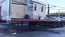 Flatbed semi trailer Schmitz Aenhanger - Lot 7 (Auction 1548)