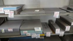 Stock of plastic slabs and metalworking machinery - Lot  (Auction 1744)